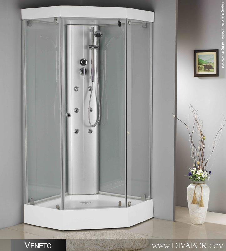 Small bathrooms with corner shower - Veneto Shower Enclosure 950mm Sh Dv6019