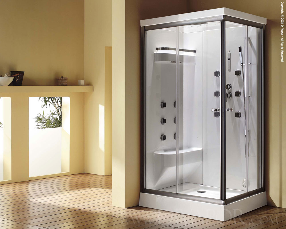 Steam showers the cascade duo - Bath shower room ...