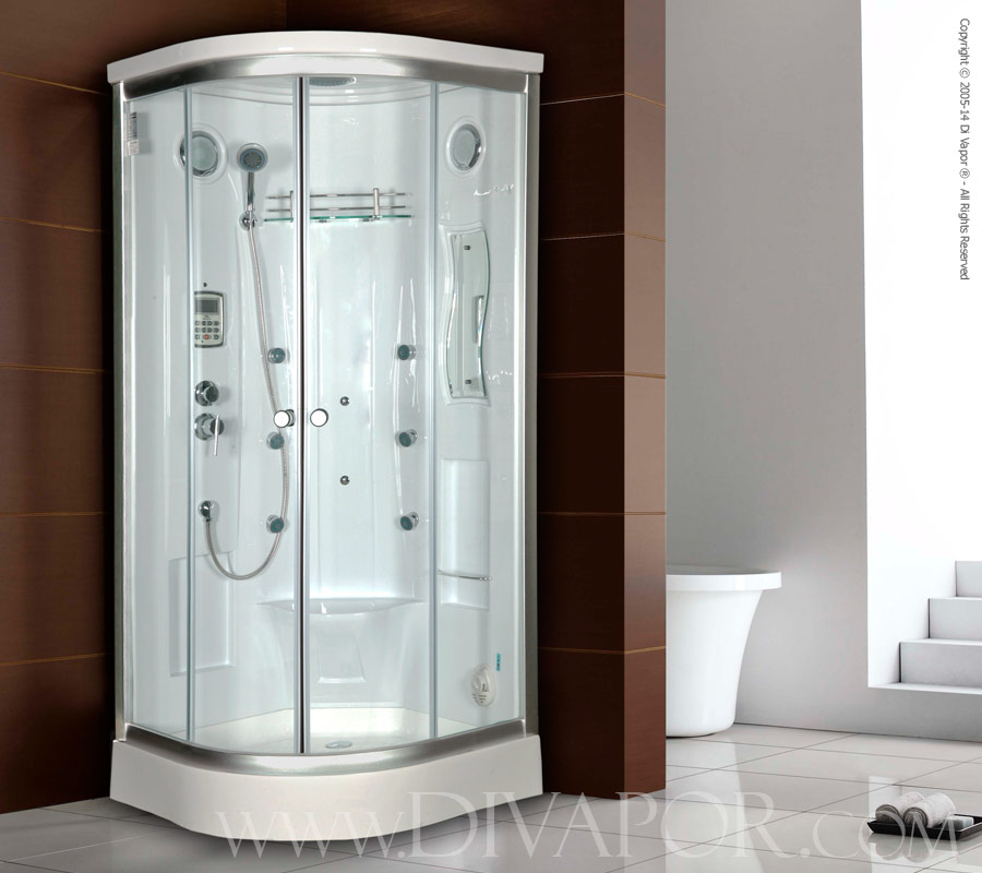 Beautiful 2 Person Steam Shower Sauna Combo