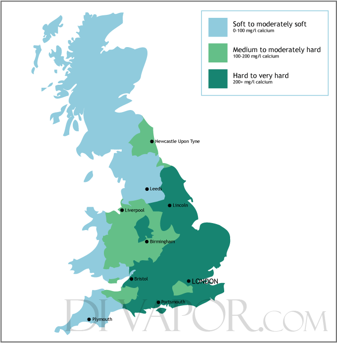 Hard Water Areas >> Water Hardness Map In My Area