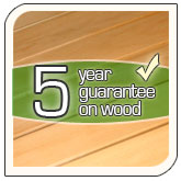 5 Years Wood Warranty
