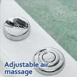 Whirlpool air massage controls