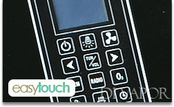 Easy touch control panel