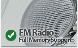 FM Radio with external audio support