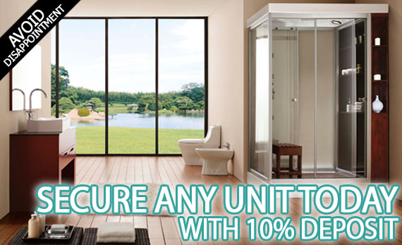 10% Shower, Bath or Sauna Deposit