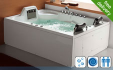 Luxor TV Whirlpool Bathtub