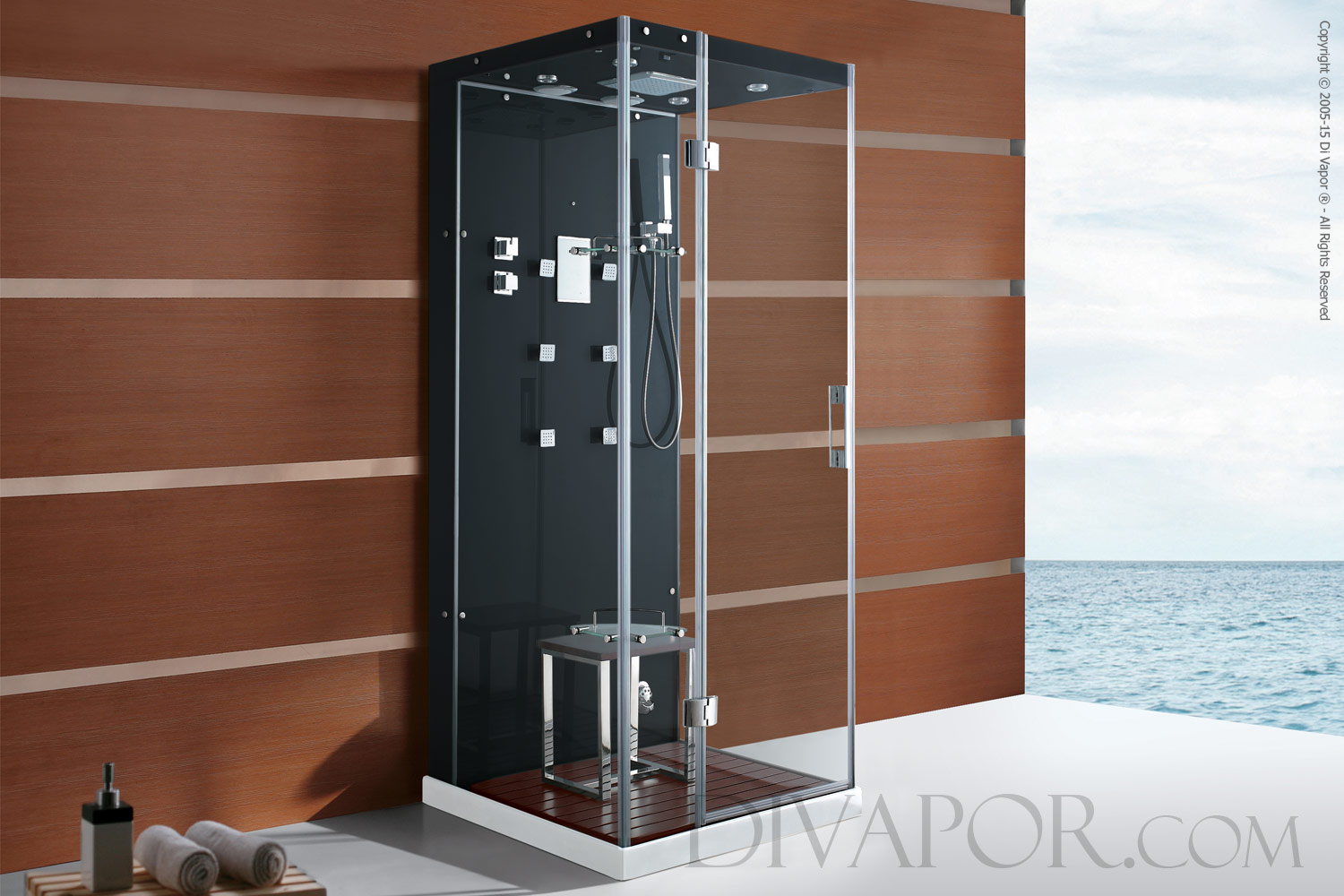 shower non luxury cubicle crystal steam itm enclosure white hydromassage cabin