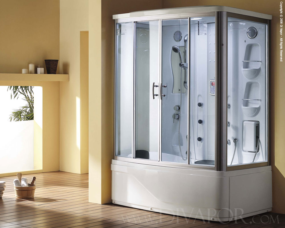 Steam bath with whirlpool bath the niagara - Bath shower room ...