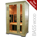 Solare Duo Infrared Sauna in Basswood