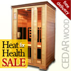 Solare Duo Infrared Sauna in Cedar