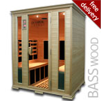 4 Person Infrared Sauna in Basswood
