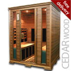 4 Person Infrared Sauna in Cedar