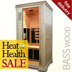 Solare Solo Infrared Sauna in Basswood