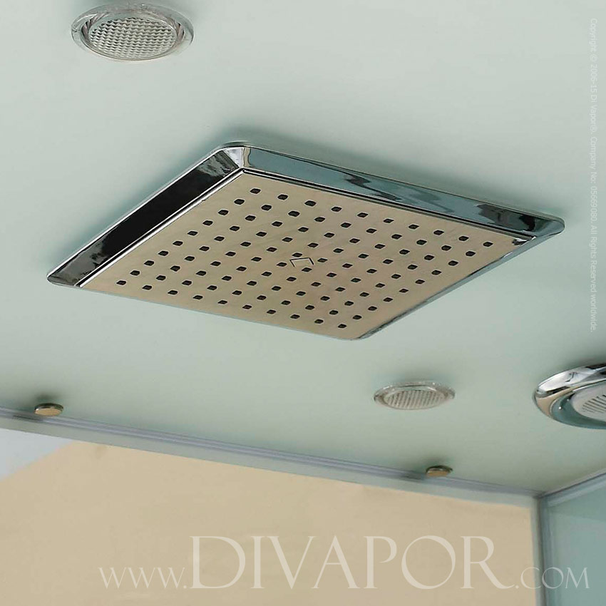 ... Steam Shower Tray; Overhead Shower And Lights ...