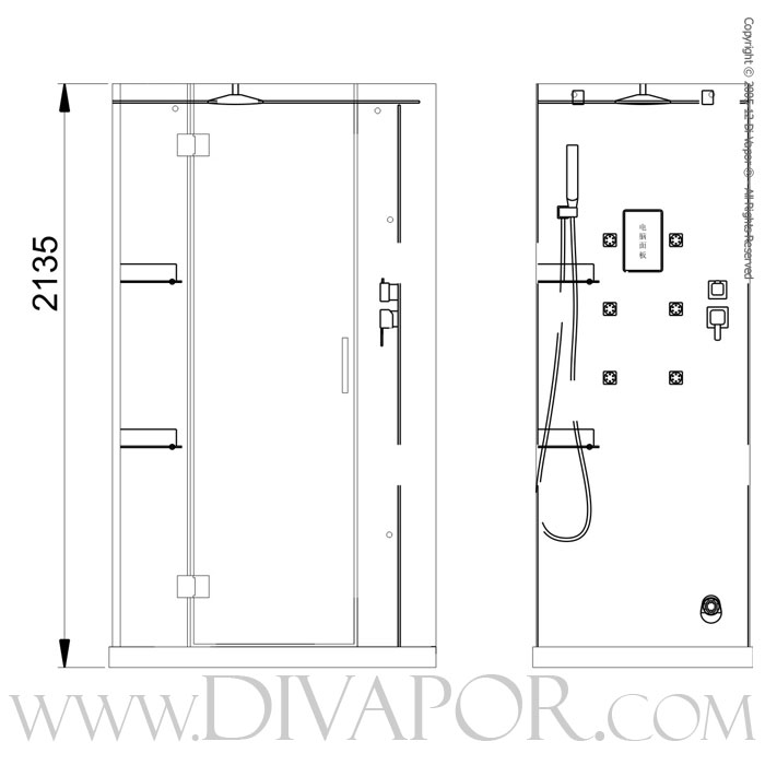 ... Standard Shower Shelf Height By Siena Steam Cabin From Di Vapor ...