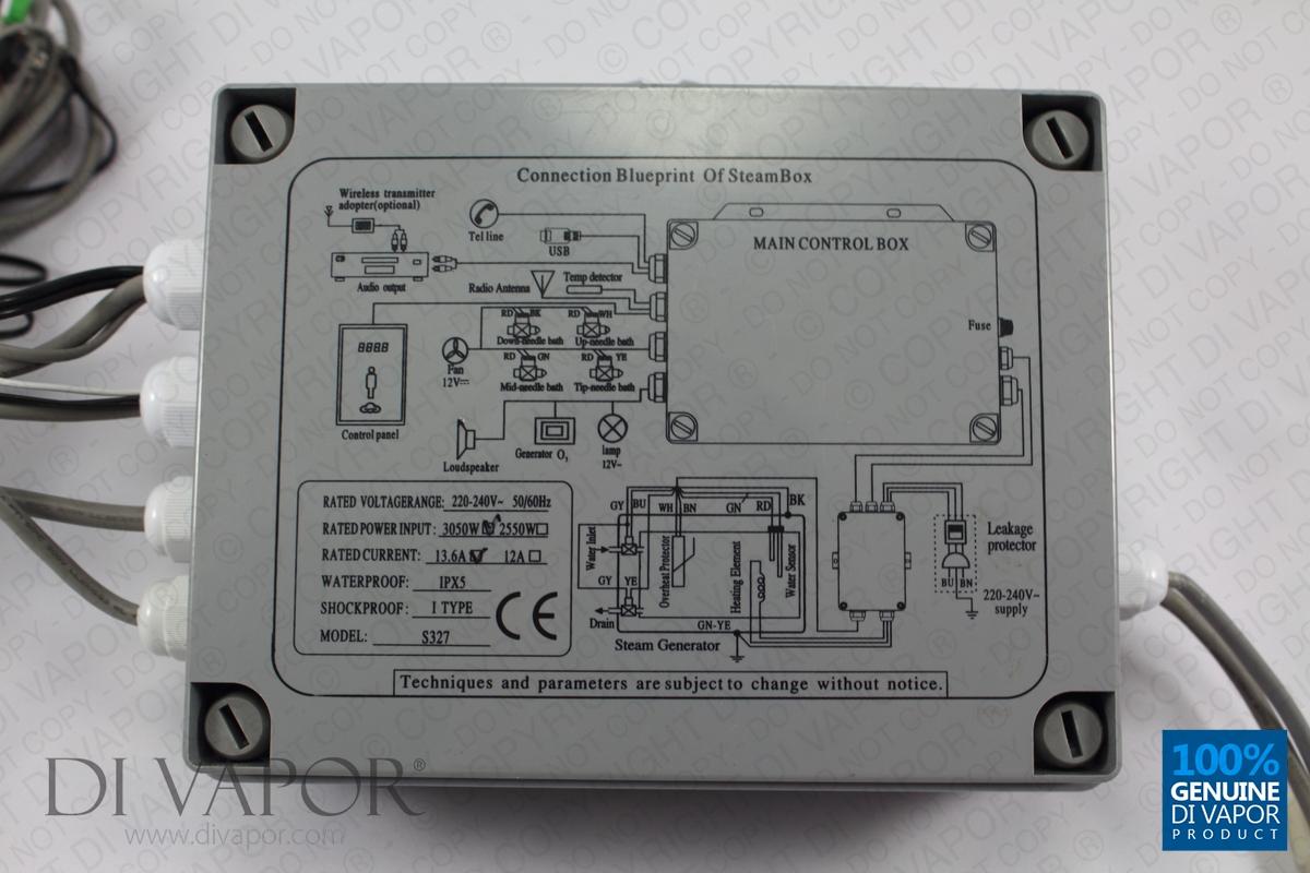 S327 Steam Room Control Box White Lights