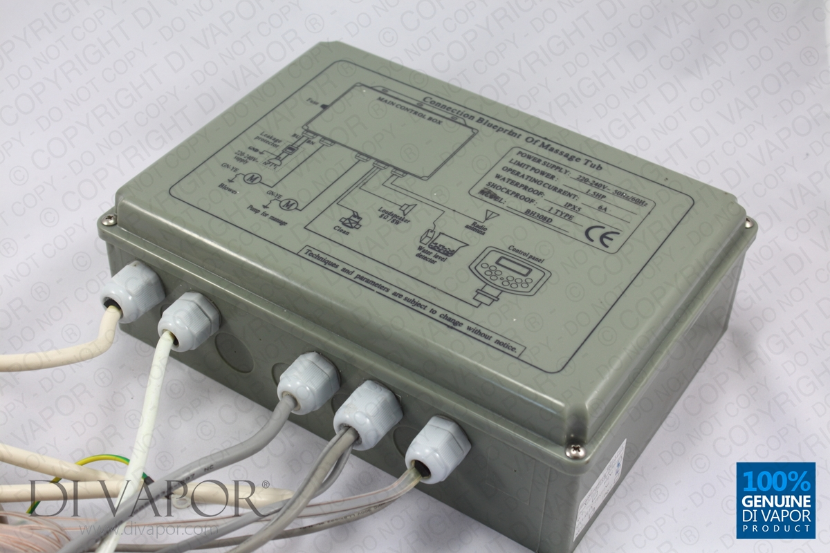 BH308 Whirlpool Bath Spa Control Box