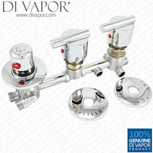 3 Way Shower Diverter Mixer Tap with Thermostatic Valve Tapset