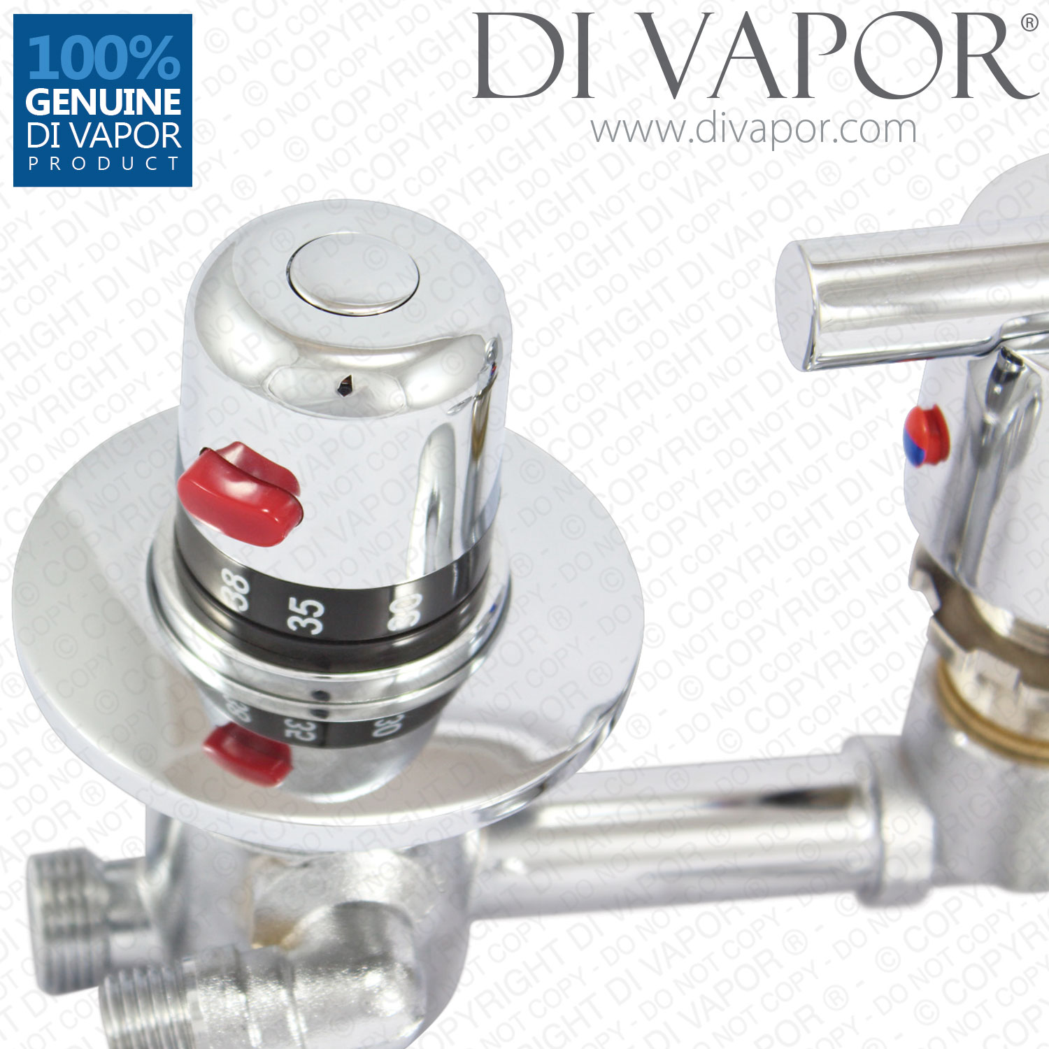Four 4 Way Shower Diverter Mixer Tap With Thermostatic