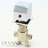 Square Deck Mounted Bath Diverter
