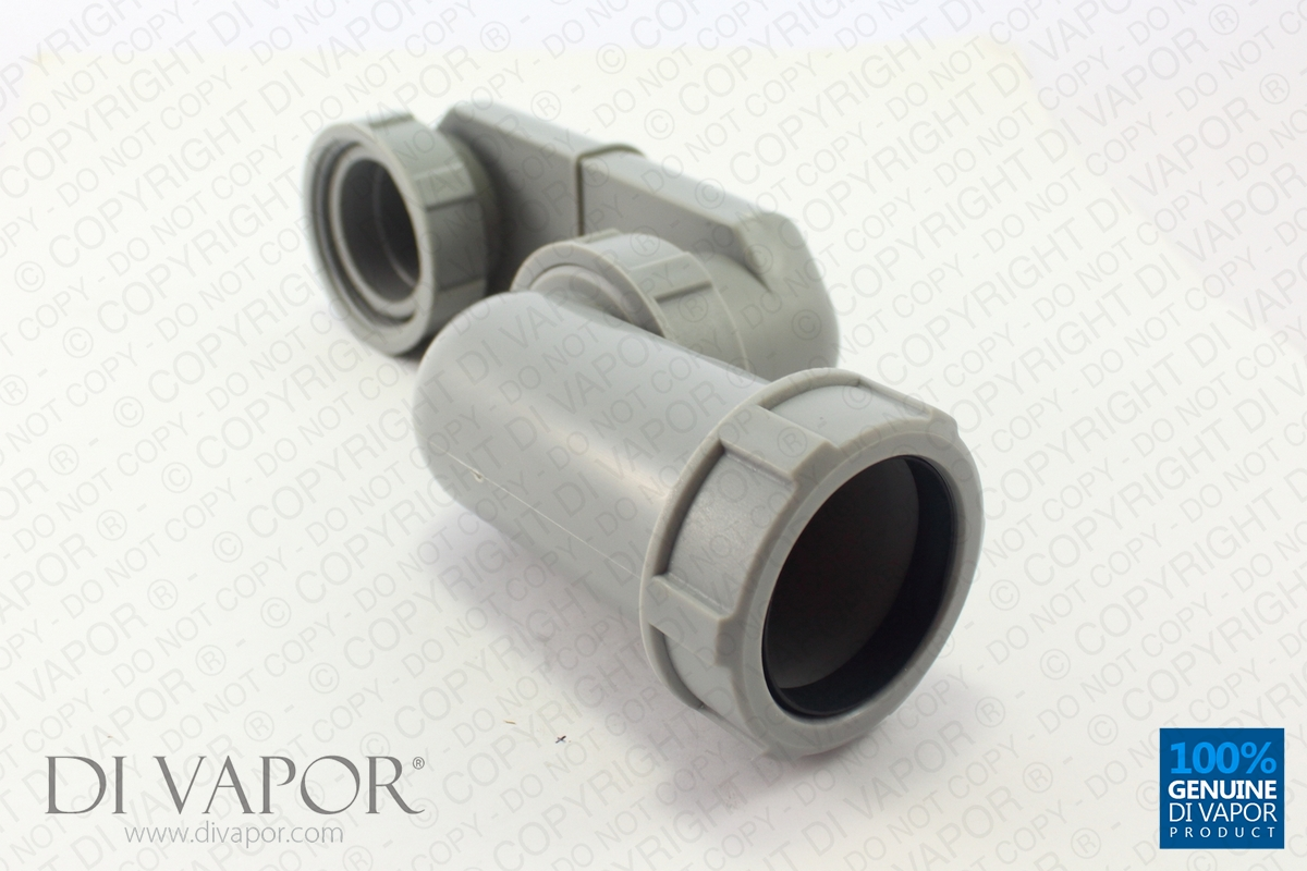 40mm Low Profile Shower Waste Pipe With Inline Anti Smell