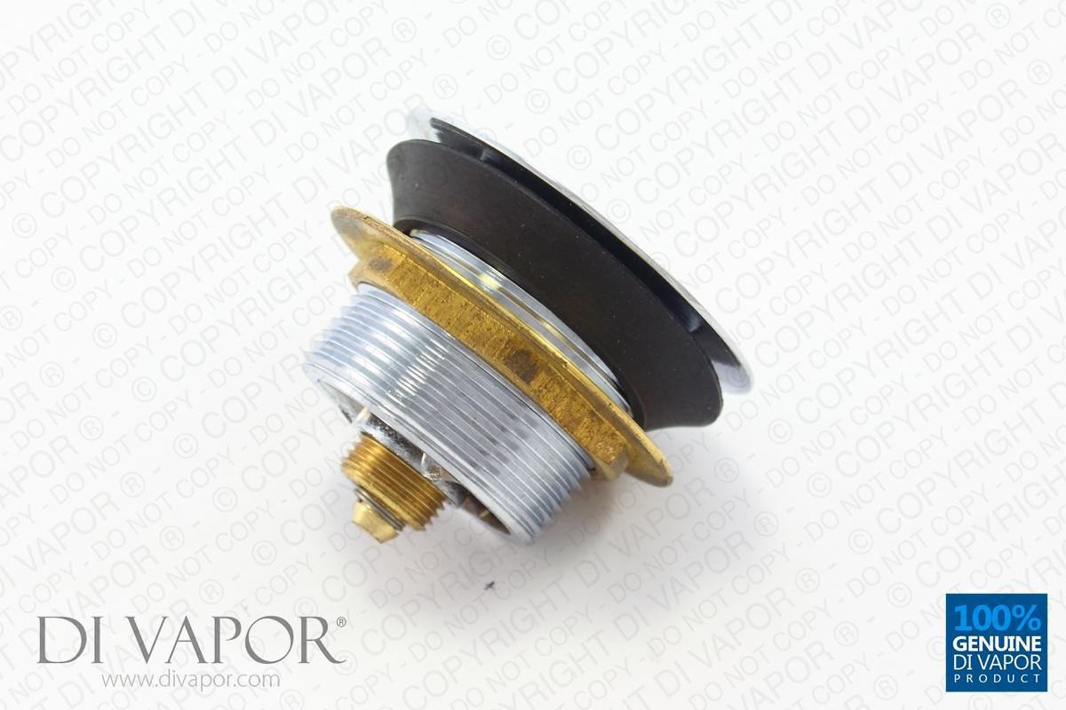 Metal Drain Pop Up Waste Plug Chrome Finish Brass Base