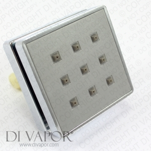 Square Shower Body Water Jet (One Way) for Steam Shower or Shower Enclosure