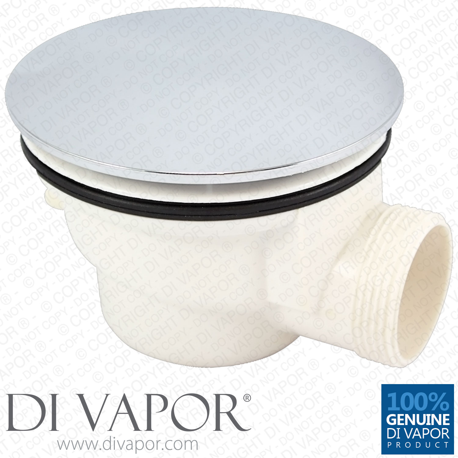 Plastic Shower Waste Drain Trap With Chrome Cover With