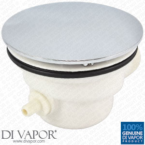 Plastic Shower Waste Drain Trap with Chrome Cover with Steam Pipe Spigot - 85mm