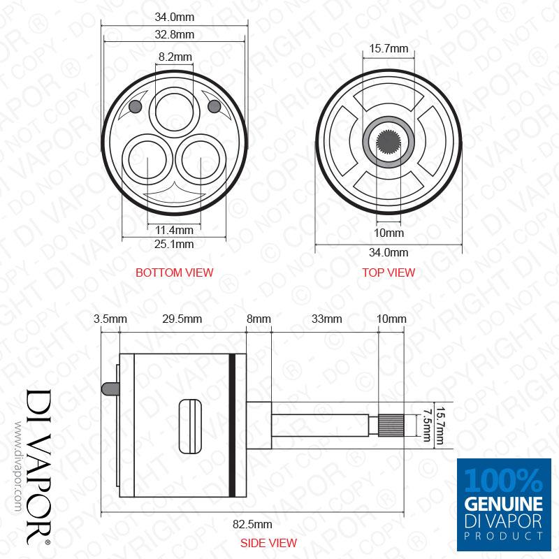 3 way shower valve flow diverter cartridge total. Black Bedroom Furniture Sets. Home Design Ideas