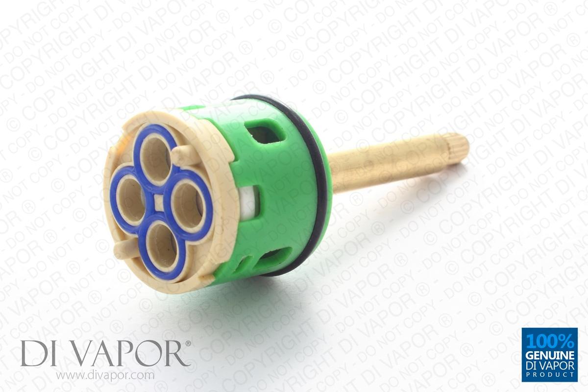4 Way Shower Flow Diverter Valve Cartridge 54mm Brass