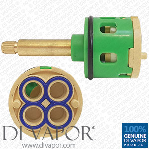 4 Way Shower Flow Diverter Valve Cartridge - (41mm Brass Spindle / 35mm Diameter)