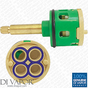 4 Way Shower Flow Diverter Valve Cartridge - (40mm Brass Spindle / 35mm Diameter)