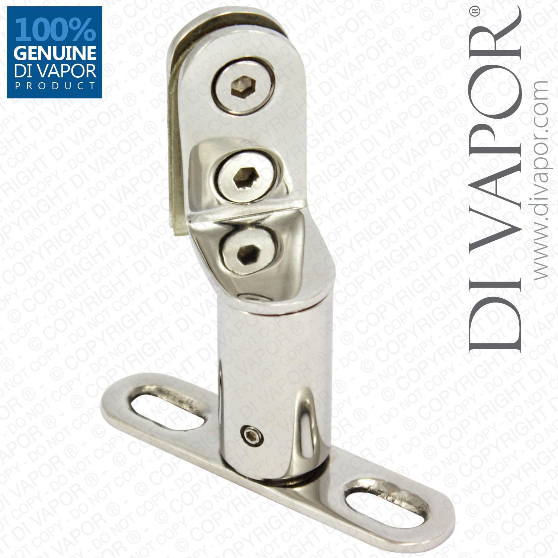 Stainless Steel Swing Shower Door Pivot Hinge Door Axis Tubular Design