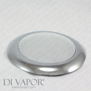 Chrome Coated Steam Shower Speaker Cover