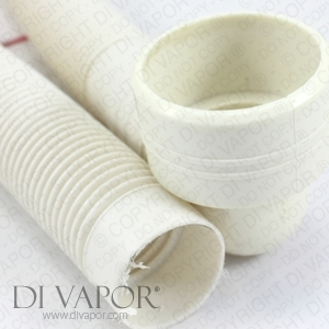 Flexible Shower Waste Flush Pipe - 60mm x 40mm x 800mm
