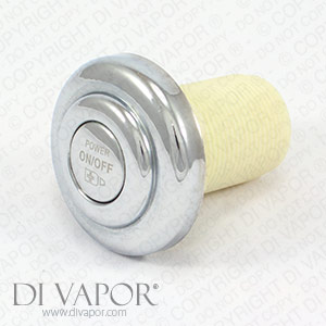 On Off Switch Air Regulator for Whirlpool Bath Jets - Strong ABS Plastic Fitting - Universal Switch