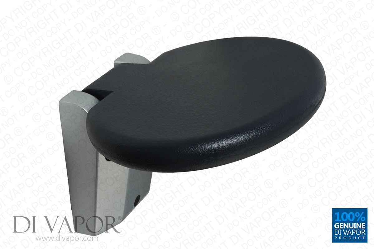 Round Fold Up Wall Mounted Shower Enclosure Seat 30cm