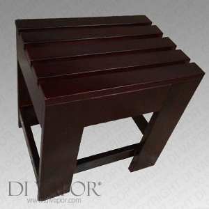 Steam Shower Wooden Stool Bench Seat Used with Victoria (S-DV6008) Mobility Disabled
