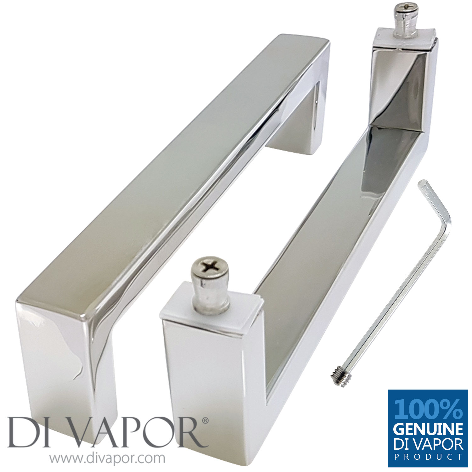 170mm Shower Door Handle 17cm Hole To Hole Stainless Steel
