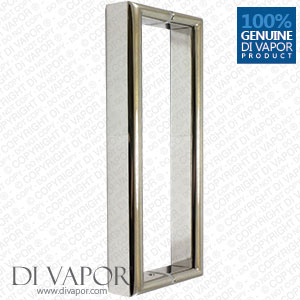 180mm Shower Door Handle | 18cm (7 Inches) Hole to Hole | Stainless Steel
