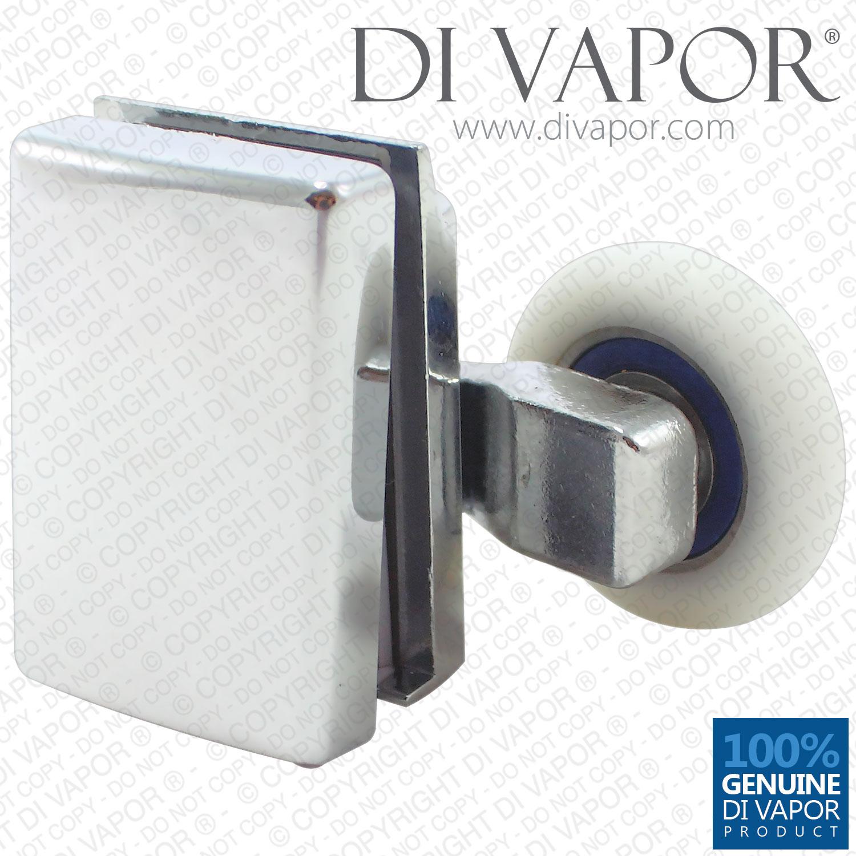 Di Vapor R 24mm 25mm Swivel Double Shower Door Roller