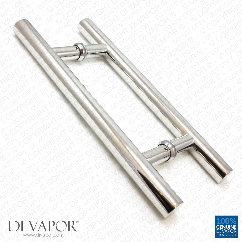Di Vapor R 180mm Stainless Steel Shower Door Handles