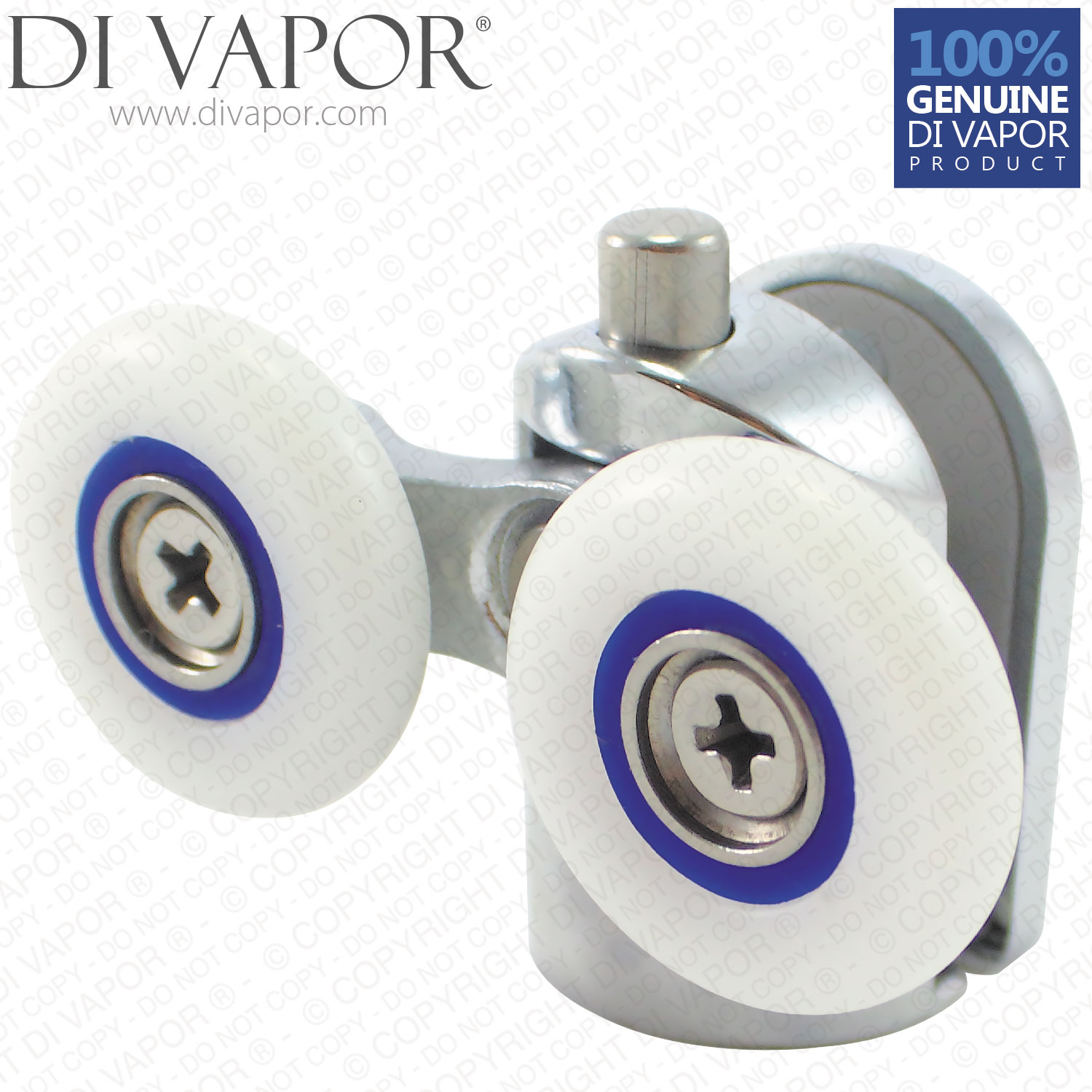 Double Bottom Glass Curved Shower Door Roller | 6mm to 8mm Glass | 22mm/23mm/24mm/25mm/26mm