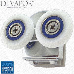 Double Fixed Shower Door Cam Wheels | 6mm to 8mm Glass | A33 22mm/23mm/24mm /25mm/26mm