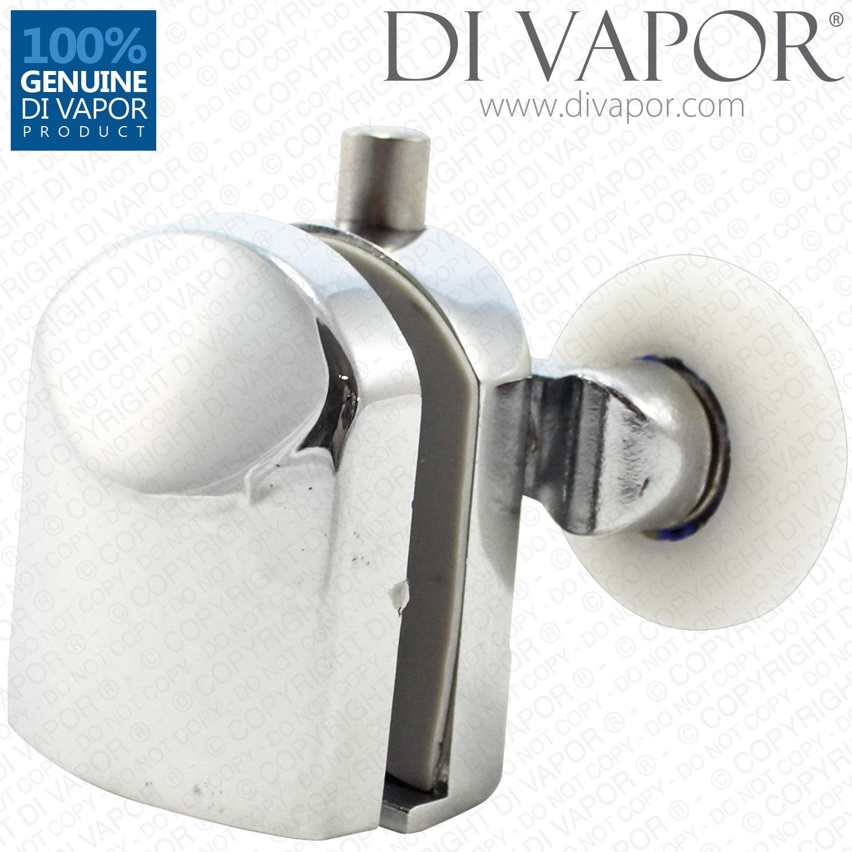 Bottom Metal Double Shower Door Roller 6mm To 8mm Glass