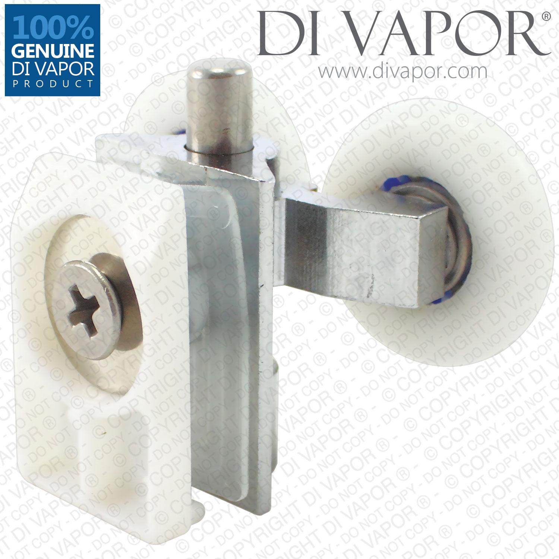 Di Vapor R Spring Solid Copper Double Shower Door Roller