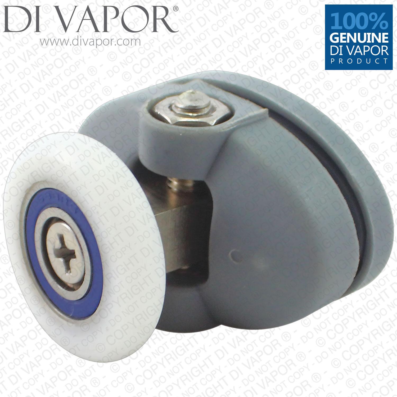 24mm Plastic Oval Top Swivel Shower Enclosure Runner 4mm