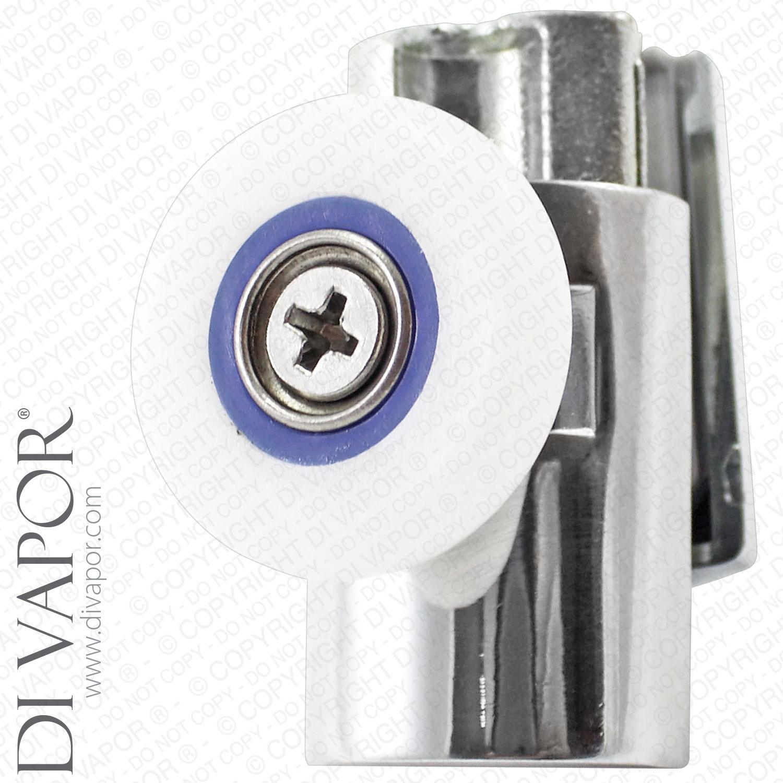 Di Vapor R Bottom Single Wheel Metal Shower Door Runner 6mm To