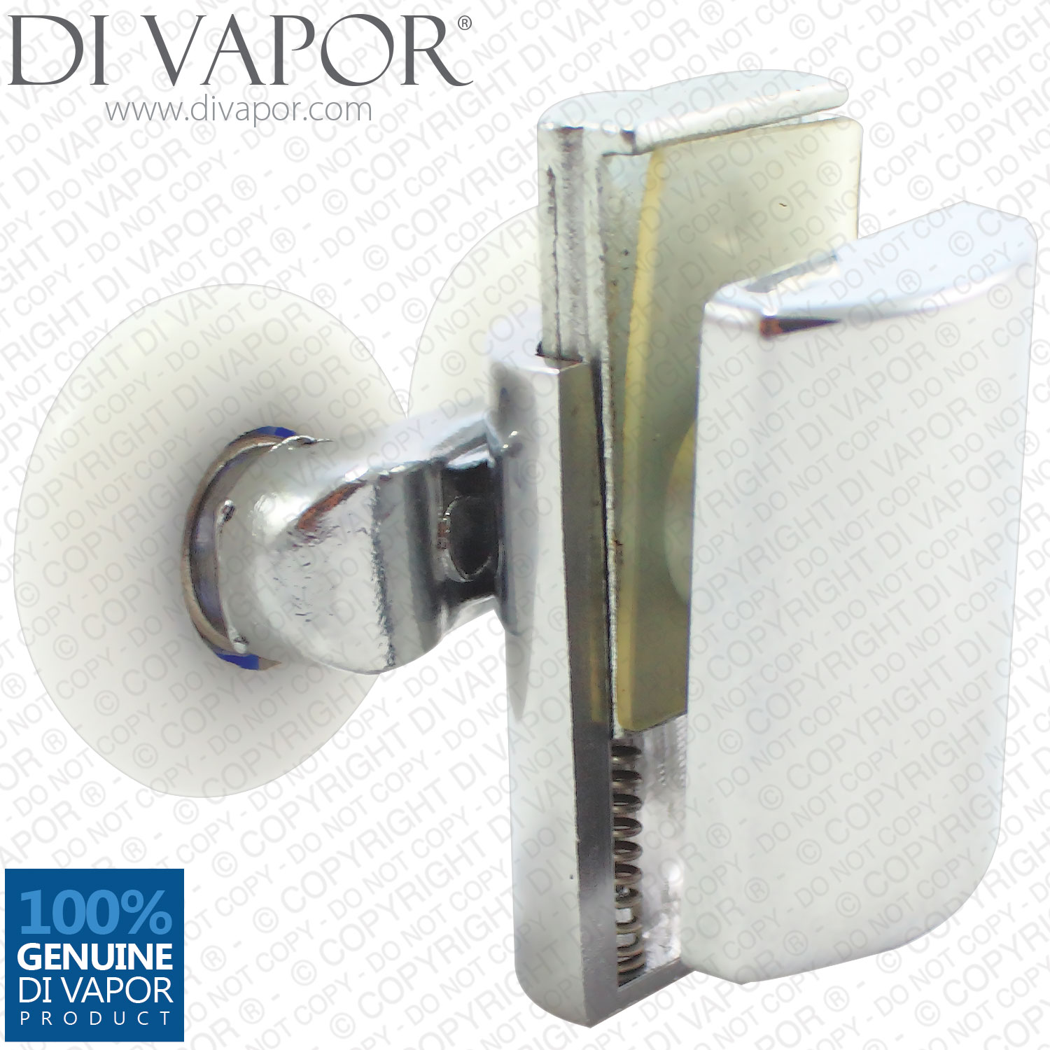 Di Vapor R Bottom Double Wheel Metal Shower Door Runner